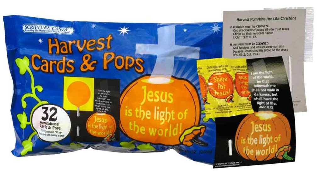 """Halloween Scripture Candy"" by Dana Busby - Dana Busby, Representative, Scripture Candy, Inc.. Via Wikipedia - http://en.wikipedia.org/wiki/File:Halloween_Scripture_Candy.jpg#mediaviewer/File:Halloween_Scripture_Candy.jpg"