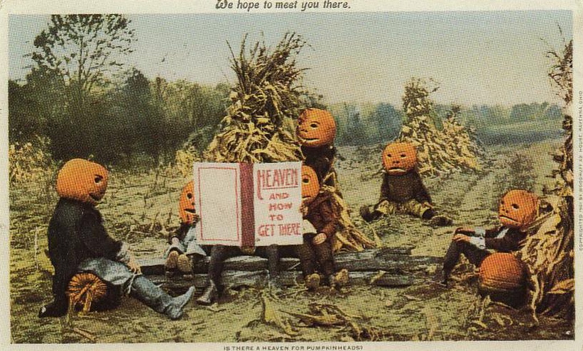"""PumpkinheadsHeaven1901"". Licensed under Public domain via Wikimedia Commons - http://commons.wikimedia.org/wiki/File:PumpkinheadsHeaven1901.jpg#mediaviewer/File:PumpkinheadsHeaven1901.jpg"