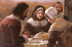 Jennie Augusta Brownscombe - Detail image of The First Thanksgiving - 1914