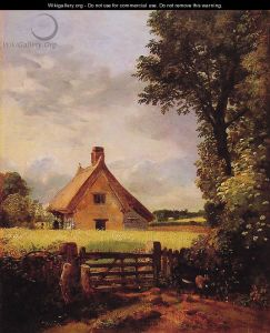 John Constable A-Cottage-in-a-Cornfield,-1817