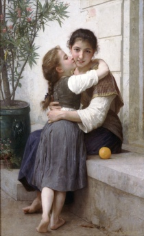 Câlinerie or  A Little Coaxing by William Adolphe Bouguereau, 1890, Wikimedia, Public Domain