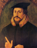 John Calvin by anonymous, in the past attributed to Hans Holbein