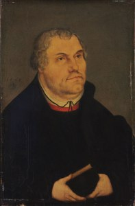 Portrait of Martin Luther by Lucas Cranach, via Wikimedia Commons
