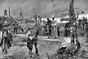 Burning of Jan Hus (John Huss) at the stake at Council of Constance in 1415, Wikimedia, Public Domain