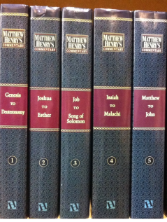 The Biblical commentaries written by Matthew Henry, credit - Pete unseth, Wikimedia