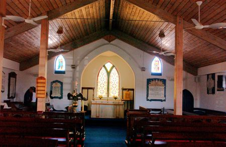 INTERIOR VIEWS OF St. Mary's CHURCH on Ascension Island, JERRYE & ROY KLOTZ MD, Wikimedia Commons