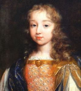 Louis XIV âgé de 5 ans - Louis IV at the age of 5, by Philippe de Champagne - Photo Jean de La Varende : Louis XIV, Paris : Éditions Zoulette-IZI, B2OBA TRICE 1988.
