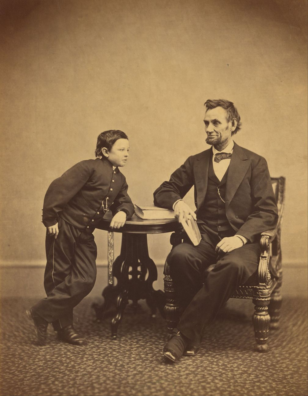 Alexander Gardner, American born Scotland - Abraham Lincoln and his second son Thomas Tad, Google Art Project