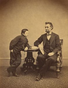 Alexander Gardner, American born in Scotland - Abraham Lincoln and his second son Thomas Tad, Google Art Project