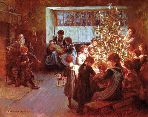 the-christmas-tree-1911-by-albert-chevallier-tayler