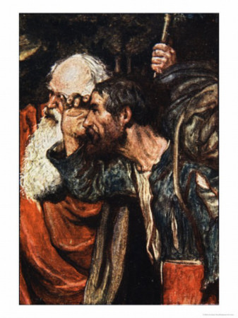 Do You See Yonder Wicket-Gate, The Pilgrim's Progress, Macgregor PubJack, 1907, by Byam Shaw