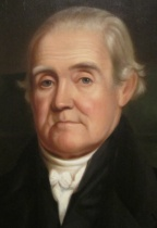 Detail of portrait of Noah Webster by James Herring. National Portrait Gallery, Washington, D.C. (further cropped)