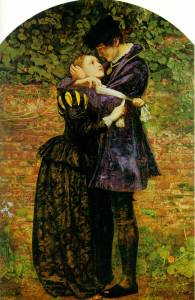Sir John Everett Millais. A Huguenot, on St. Bartholomew's Day Refusing to Shield Himself from Danger by Wearing the Roman Catholic Badge