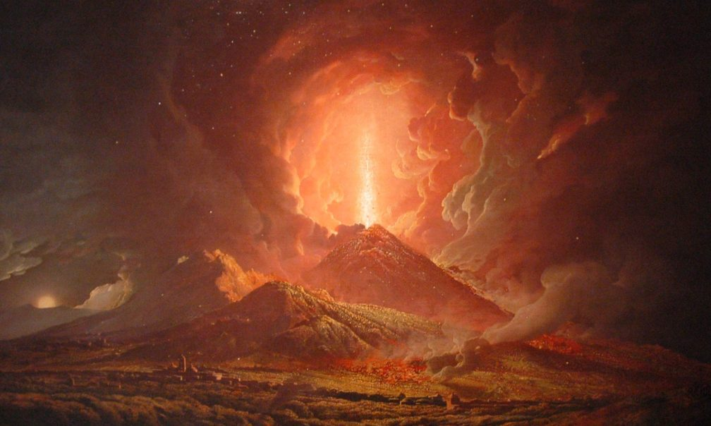 Vesuvius From Portici by Joseph Wright of Derby -