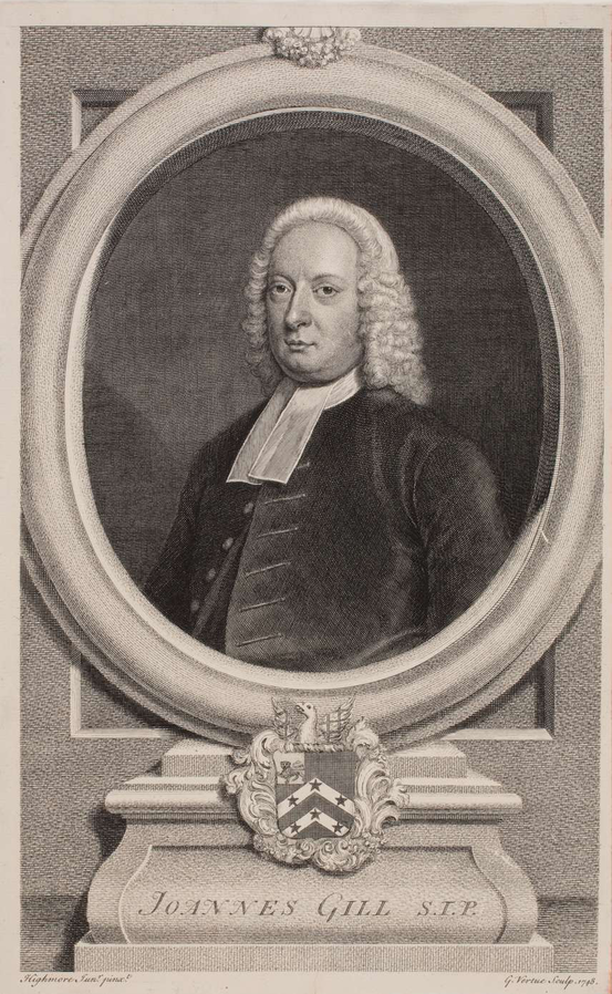 Portrait of John Gill by George Vertue 1684
