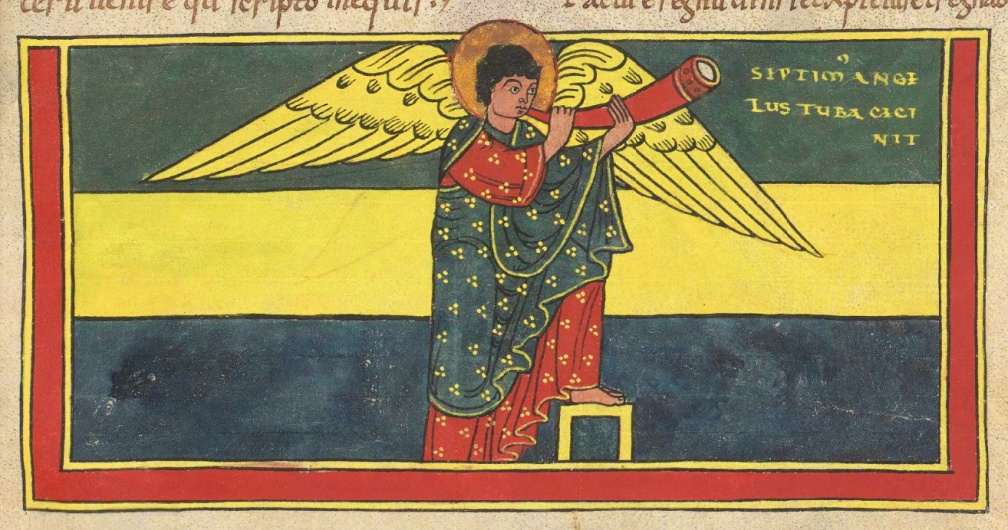 Saint-Sever Beatus f. 157r - Seventh trumpet - crop