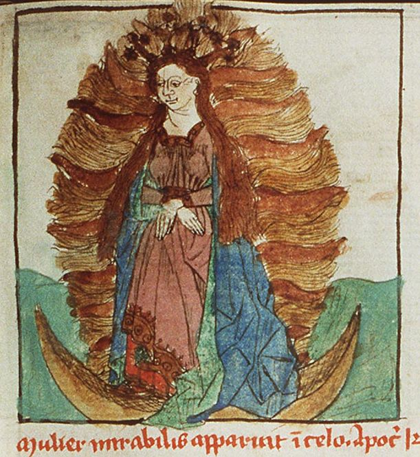 The Woman Clothed in the Sun (Speculum humanae salvationis) - anonymous